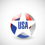 Usa color seal illustration design. Over a white background Stock Photo