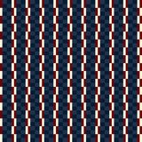Usa color style Seamless blue beige and red fashion plaid patter Royalty Free Stock Photos