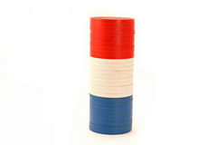 USA Colored Casino Poker Chips.  Stock Photo