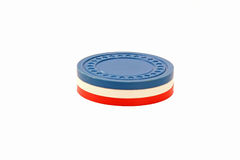 USA Colored Casino Poker Chips.  Stock Photography