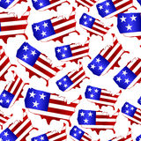 Usa colors map shape celebration seamless pattern eps10. Usa colors map shape celebration seamless pattern Stock Images