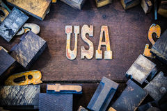USA Concept Rusty Type Royalty Free Stock Images