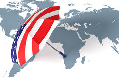 Usa, concept of world security Stock Images