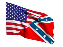 Usa and confederate flag Royalty Free Stock Photography