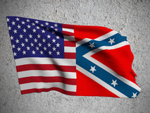 Usa and confederate flag Stock Images
