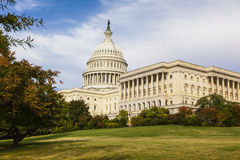USA Congress Building. A View in Autumn of the US Congress Royalty Free Stock Photography