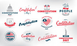 USA constitution day. 17 september. Royalty Free Stock Photography