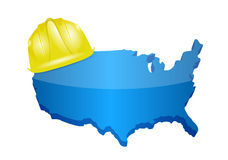 Usa construction illustration design Stock Image