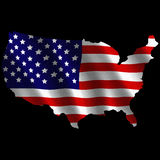 USA continent flag illustration Royalty Free Stock Photos