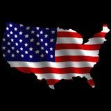 USA continent flag illustration Royalty Free Stock Photos