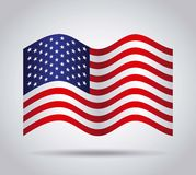 Usa country flag. Over white background. colorful design. vector illustration Stock Photo