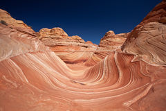 USA - coyote buttes - the wave formation Royalty Free Stock Photo