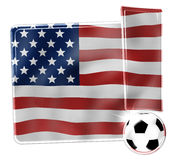 USA Creative Flag Concept Stock Images