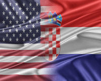USA and Croatia. Relations between two countries. 3D illustration Stock Photo
