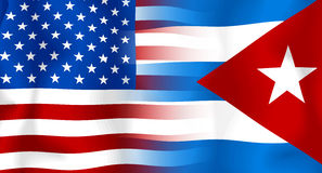 Usa-Cuba Flag Royalty Free Stock Image