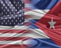 USA and Cuba. Stock Photography