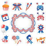 USA culture USA culture decorative elements Royalty Free Stock Photos