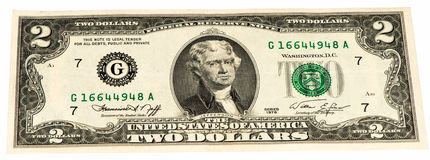 USA currancy banknote Stock Photos