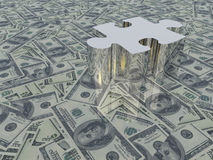 USA Currency Puzzle Royalty Free Stock Photos
