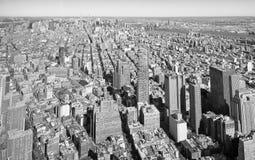 USA czarny i biały linia horyzontu Manhattan, Miasto Nowy Jork - Fotografia Royalty Free