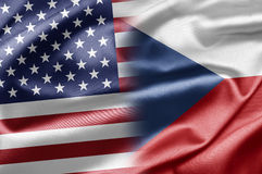 USA and Czech Republic Stock Image