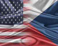 USA and Czech Republic. Stock Photography
