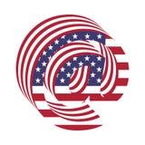 USA 3d abecadła listu chorągwiany email Textured chrzcielnica Obrazy Royalty Free