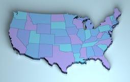 USA 3D stock illustration