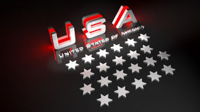 USA  in 3d illustration Royalty Free Stock Photo