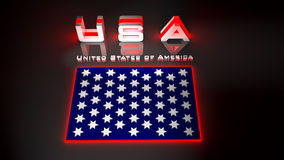 USA  in 3d illustration Royalty Free Stock Photography