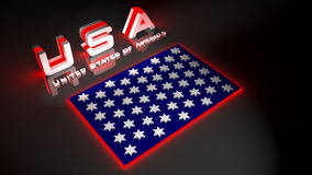 USA  in 3d illustration. 3D Illustration United States of America Stock Images