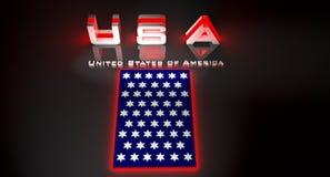 USA in 3d illustration vector illustration