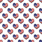 USA 3d Shell Seamless Pattern Royaltyfri Foto