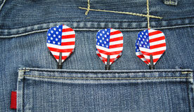 USA darts in jeans pocket Royalty Free Stock Photography