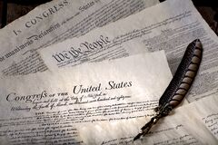 Free USA Declaration Of Independence And Bill Of Rights 2 Stock Photography - 174084472