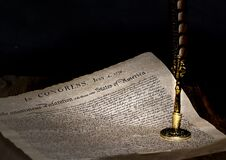 Free USA Declaration Of Independence With Feather Quill Stock Photo - 174084400
