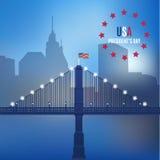 USA-Design über direktem Hintergrundvektor Stockbild