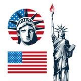 USA design. American icon. Flat illustration Royalty Free Stock Photo