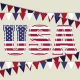Usa design Royalty Free Stock Images