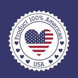 Usa design. Over blue  background vector illustration Royalty Free Stock Images