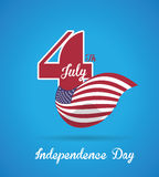 USA design. Over blue background, vector illustration Stock Photography