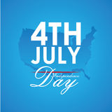 USA design. Over blue background, vector illustration Royalty Free Stock Photos