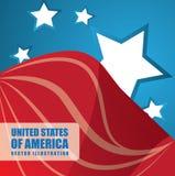 USA design. Over blue background, vector illustration Royalty Free Stock Image