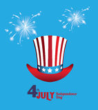 USA design. Over blue background, vector illustration Royalty Free Stock Photo