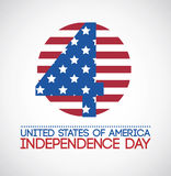 USA design. Over gray background, vector illustration Stock Photography