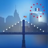 Usa design over lineal background vector Stock Image