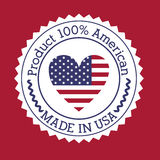 Usa design. Over red  background vector illustration Stock Photos