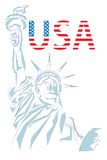 USA design over white background Stock Image