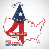 USA design. Over white background, vector illustration Stock Image