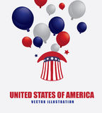 USA design. Over white background, vector illustration Stock Photography